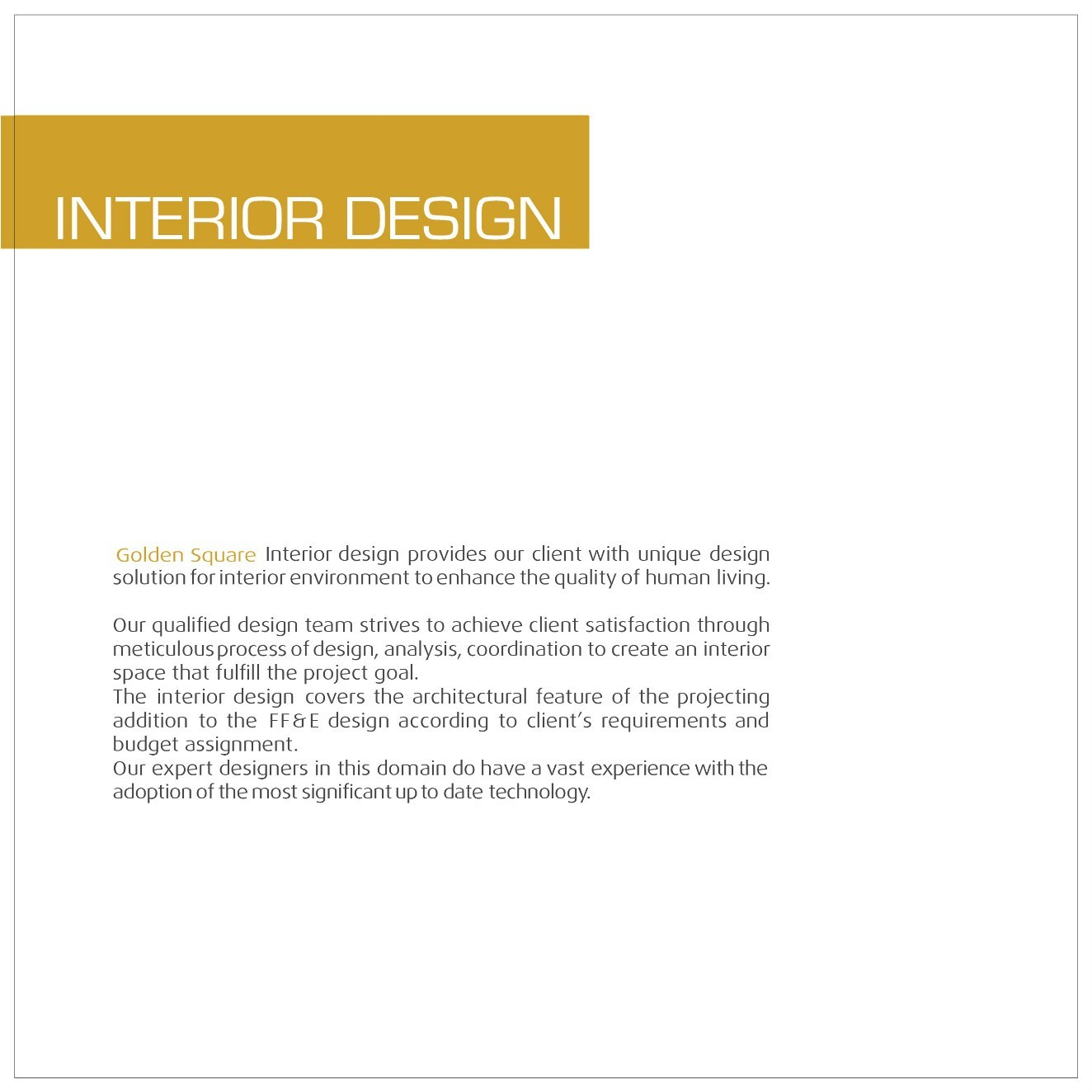Interior Designer Requirements